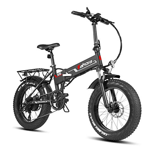 Eahora X5s 20 Inch Fat Tire Folding Electric Bike 48V 10.4Ah Snow Beach Electric Bicycle Lithium...