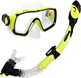 Deep Blue Gear Montego Ultra Dry Diving Mask and Dry Snorkel Set, Adult, Yellow