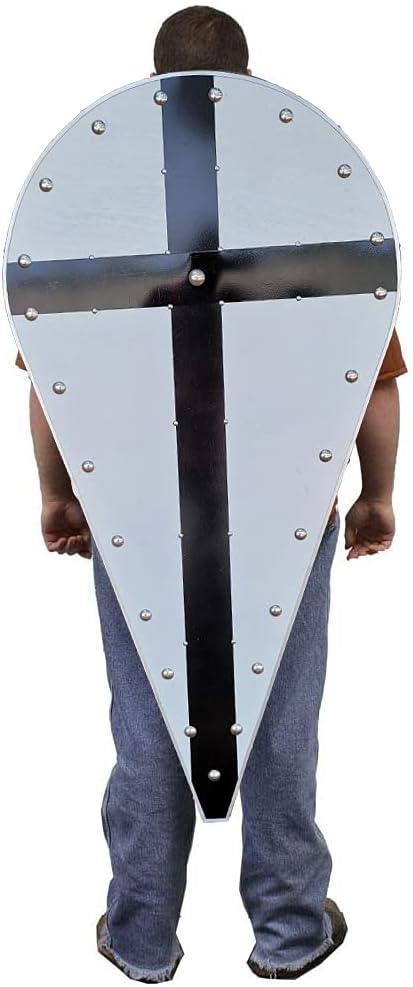 Swordsaxe Templar Knight Crusader Wooden Superlatite Shield Black Kite SEAL limited product Cross