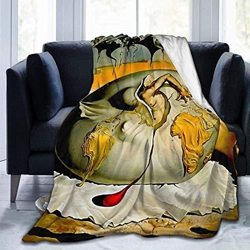 CheXe Manta De La Siesta Felpa Sofás Franela ENFANTE GEOPOLITIQUE OBSERVANTE-Salvador Dali Painting Buen sueño L150cm x W200cm Todas Las Temporadas