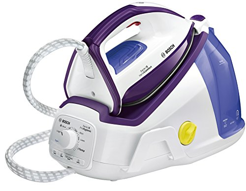 Bosch TDS6080 Serie | 6 Centro de planchado, 2.400 W, 6 bares de presión, color blanco y violeta