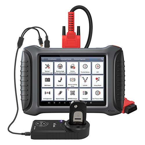 X100 Pad3 Car Key Programmer Immobilizer Actuation Test Full System OBD2 Diagnostic Tool BCM/SRS/ABS Bleeding 22 Service Reset 2 Years Free Update X100 Pad Elite