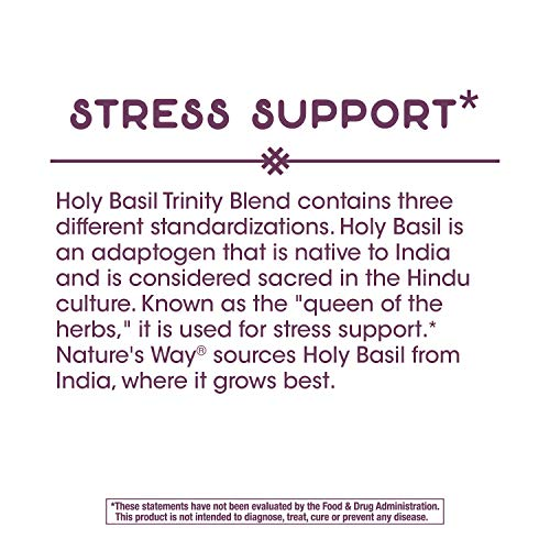 Nature's Way Holy Basil Trinity Blend For Stress Support, 675 mg per serving, 60 Softgels