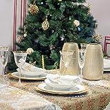 AirSMall Noel Tischläufer Weihnachten Tischdecke Rot Tischband Xmas Tischtuch Tisch Läufer Mitteldecke Leinen tischläufer für Weihnachtsessen Esstisch Kommunion Tischdeko Winter Deko - 6