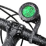 KOROSTRO Ciclocomputer Senza Fili Impermeabile, tachimetro per Bicicletta Senza Fili con retroilluminazione LCD a 3 Colori, con sensore di Movimento, contachilometri per Track Speed