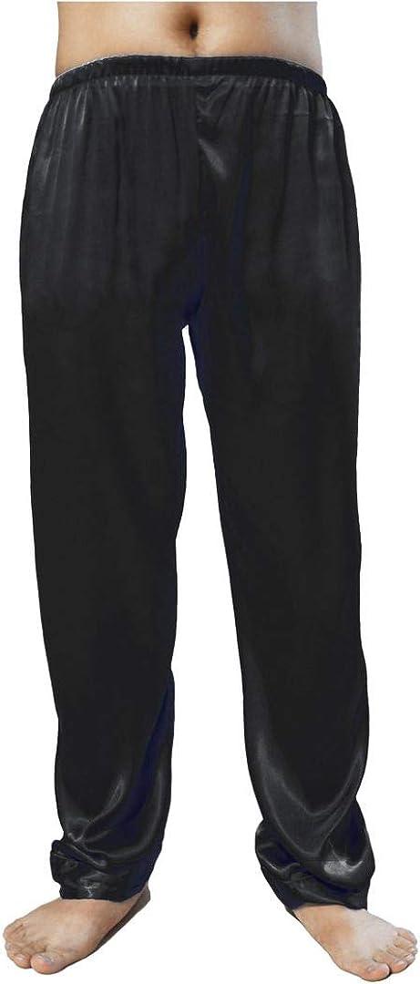 Wantschun Mens Satin Silk Sleepwear Pyjamas Pants Nightwear Loungewear Pajama Bottoms Trousers XS-XXXL