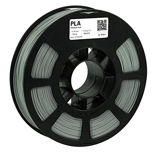 KODAK PLA Filament 1.75mm for 3D Printer, Gray PLA, Dimensional Accuracy +/- 0.03mm, 750g Spool (1.7lbs), 1.75 PLA Filament Used as 3D Filament Consumables to Refill Most FDM Printers