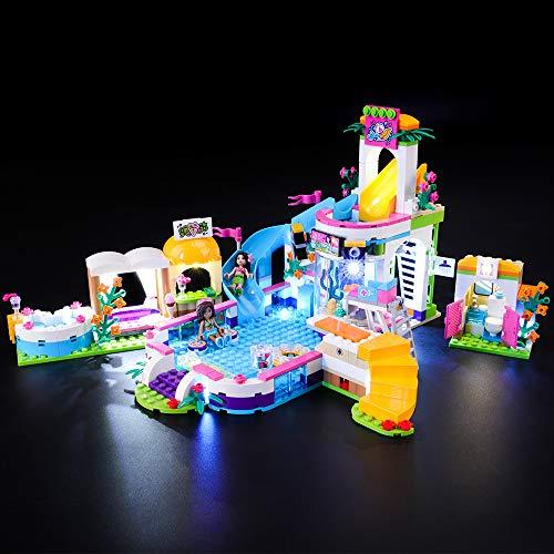 BRIKSMAX Kit de Iluminación Led para Lego Friends Piscina de Verano de Heartlake,Compatible con Ladrillos de Construcción Lego Modelo 41313, Juego de Legos no Incluido