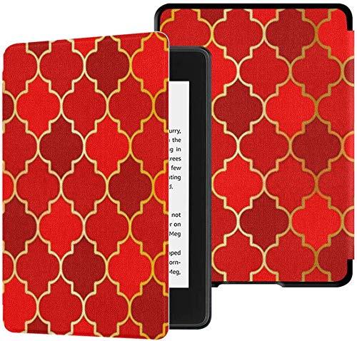 Nuevo Kindle Paperwhite Funda de Tela Segura para el Agua (10a generación, versión 2018), Origami Mosque Window Vector Seamless Pattern Tablet Case