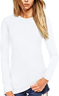 Women T Shirt Short/Long Sleeve Crew Neck Tee Tops Blouse
