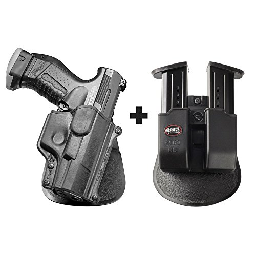 Fobus WP-99 Paddle Conceal Concealed Carry Holster Walther P99 & P99 Compact + 6909 ND Double Magazine Pouch