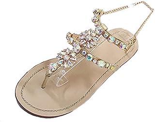 date de sortie: a45a4 9d50b Amazon.fr : Sandales Strass - Sandales / Chaussures femme ...