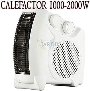 Suinga Calefactor ELECTRICO 1000-2000W. 2 ajustes de Temperatura. Ventilación - Aire Caliente - Aire Templado