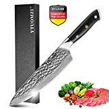 Damascus Kitchen Knife, 8 Inch Japanese Chefs Knife VG 10 Damascus Steel Knife High Carbon 67-Layer...