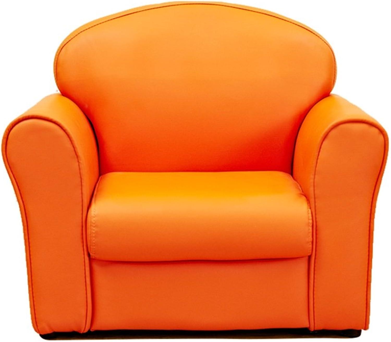 JiuErDP Kinder Sofa Sofa Stuhl einzelnes Sofa Cartoon Mini Sofa Kindergarten Sofa Baby Sofa Stuhl Baby Sofa (Farbe   Orange)