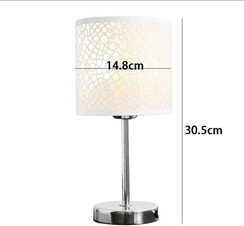 AOLI Tischlampe Modern Nordic Hohle Eisen, Schlafzimmer Nachttischlampe Hochzeit Lampe Warme Lampe (Dimming Open Light)
