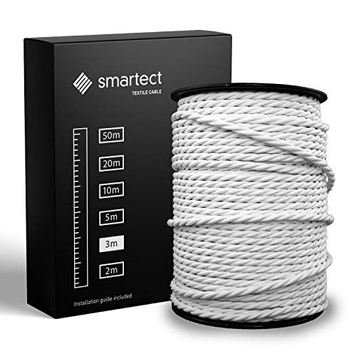 smartect Cable Textil Trenzado en Color Blanco -...