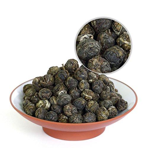 GOARTEA 100g (3.5 Oz) Organic Premium Jasmine Dragon Pearl Ball Loose Leaf Chinese Green TEA Verde té
