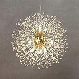 Firework Modern Sputnik Chandelier, Palacelantern Dandelion Light Crystal Hanging Pendant Light Fixture - Gold, 8 Lights for Dining Room, Bedroom, Living Room