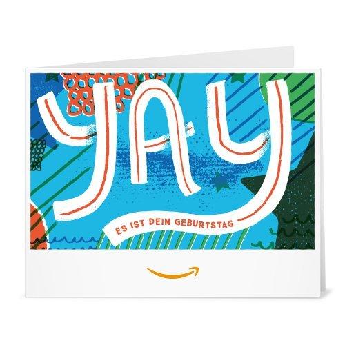 Amazon.de Gutschein zum Drucken (Yay Geburtstag)