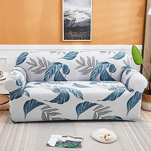 WXQY Fundas con Estampado Floral Funda de sofá elástica elástica Funda de sofá con protección para Mascotas Funda de sofá con Todo Incluido en Forma de L A3 2 plazas