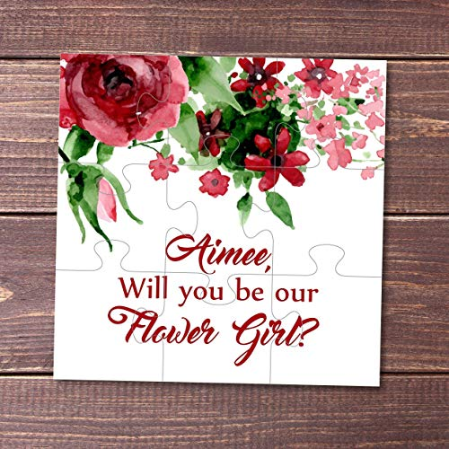 Puzzle proposal Will you be my Flower Girl gift Bridesmaid puzzle