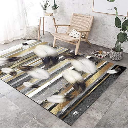 Miduo 3D-Druck, minimalistischer Wohnzimmer-Teppich, Schlafzimmer-Teppich, Kinder-Teppich, bedruckt, 2,40 x 60 cm