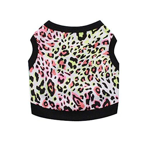 Chiens Vêtements Grande Taille Black Leopard Style d'impression Animaux Apparel