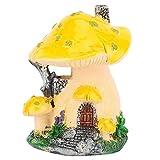 Emoshayoga Escultura Duradera de la casa de la Seta de la Resina para la decoración Interior y al Aire Libre de la Escultura