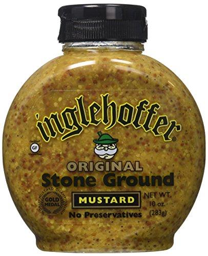 Inglehoffer Stone Ground Mustard Squeeze Bottle, 10 oz