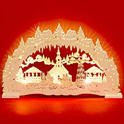 Sikora LB48 illuminated LED wooden candle arch SEIFFEN Christmas market including transformer