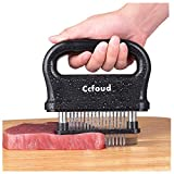 Meat Tenderizer, 48 Stainless Steel Ultra Sharp Needle Blade Tenderizer for Tenderizing Steak, Beef with Cleaning Brush,Durable Baking Kitchen Accessories by Ccfoud