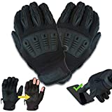 Gig Gear ONYX Gig Gloves - All Black, All Purpose, Touchscreen Work Gloves (M)