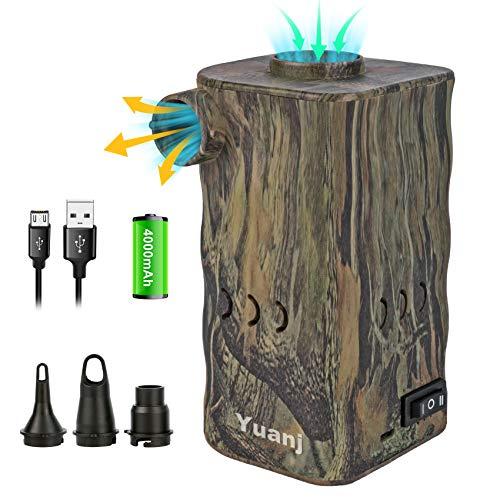Pompa ad aria elettrica portatile, pompa d'aria ricaricabile 4000mAH per gonfiabili, sgonfiaggio rapido con 3 ugelli, per cuscini gonfiabili da campeggio, divano ad aria, giochi da piscina