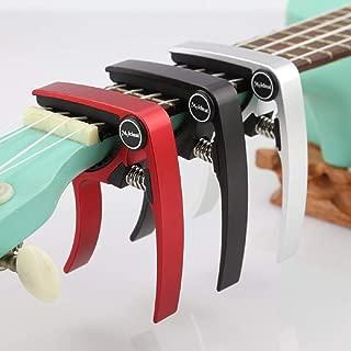 Ukulele Capo For Ukulele Banjo Mandolin Quatro and Four String Guitars. (Black)