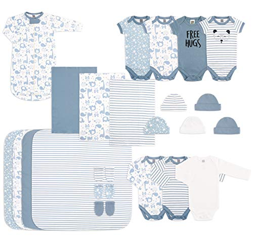 The Peanutshell 23 Piece Newborn Clothes Set for Baby Boys | Layette Gift Set Blue