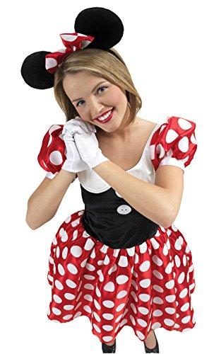 Rubies 3 888584 Costume Minnie Topolina Disney - Rosso, L