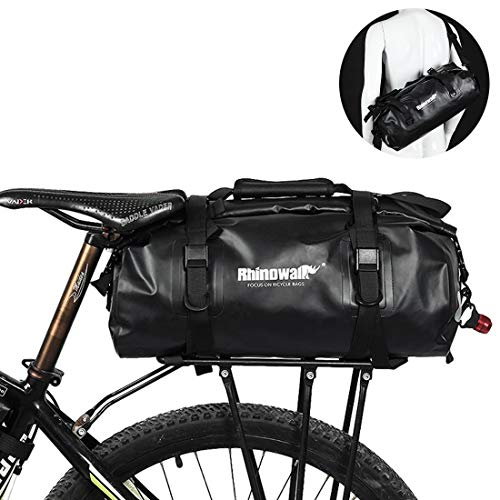 Selighting Bolsa Alforja Trasera para Bicicleta 25L, Grande Bolsa Bicicleta Multifunción Carretera MTB Bicicleta de Montaña (Verde)