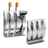 Wall Mounted Toothbrush Holder, Stainless Steel Bathroom Organizer...