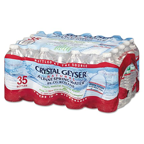 Crystal Geyser Natural Alpine Spring Water, 16.9 Ounce (35 Bottles)