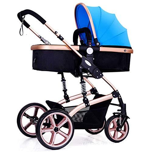 El tubo de acero adopta un cochecito de bebé de alta vista, que es ligero y fácil de plegar y absorber el choque.El bebé puede sentarse y acostarse.El cochecito de bebé está disponible en tres colores