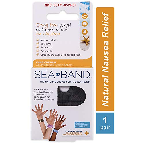 Sea-Band Anti-Nausea Acupressure Wristband for Motion Sickness, Child, 1 pair