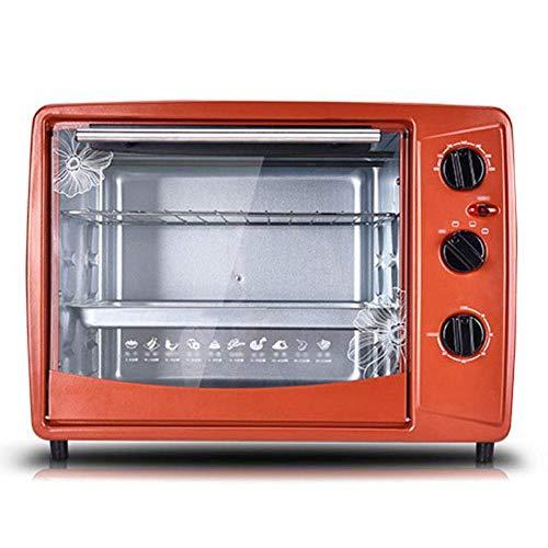 CMmin Mini Countertop Toaster, inclusief Bak Pan, Broil Rack, 1500W Capaciteit 30 liter, omhoog en omlaag onafhankelijke verwarming Multi-layer Baking positie, Brown