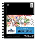 CANSON Artist Series Montval Watercolor Paper Pad, Heavyweight Cold Press and Micro-Perforated, Side Wire Bound, 140 Pound, 9 x 12 Inch, 20 Sheets, 9'x12'