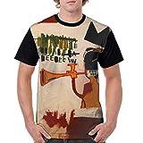 Camiseta de Manga Corta con protección Solar Transpirable Trompeta Jean Michel Basquiat para Hombre