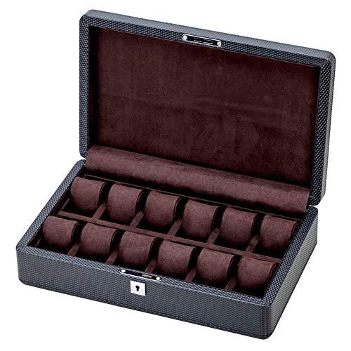 AJH Uhrenbox, Simple Fashion Haushaltsleder Uhrenbox Sammelbox Holzuhr Display Aufbewahrungsbox Geschenkbox Uhrengehäuse