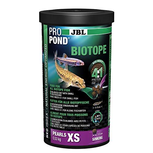 JBL Teichfutter für alle Biotopfische, Sinkende Futterperlen, PROPOND BIOTOPE, Größe XS, 530 g