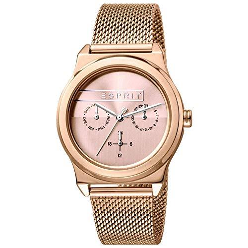 Esprit Damen Multi Zifferblatt Quarz Uhr mit Edelstahl Armband ES1L077M0065