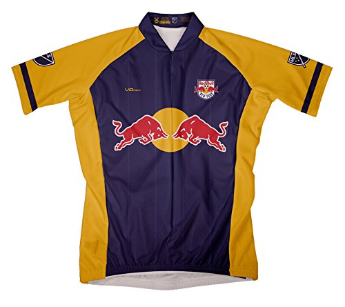 MLS New York Red Bulls Damen Fahrradtrikot, kurzärmelig, Größe S, Blau