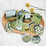 CFPacrobaticS 45Pcs classico Van Gogh pittura adesivo sigillanti adesivi mestiere DIY decorazione